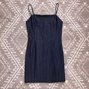 Navy & white stripe forever 21 dress RUNS SMALL